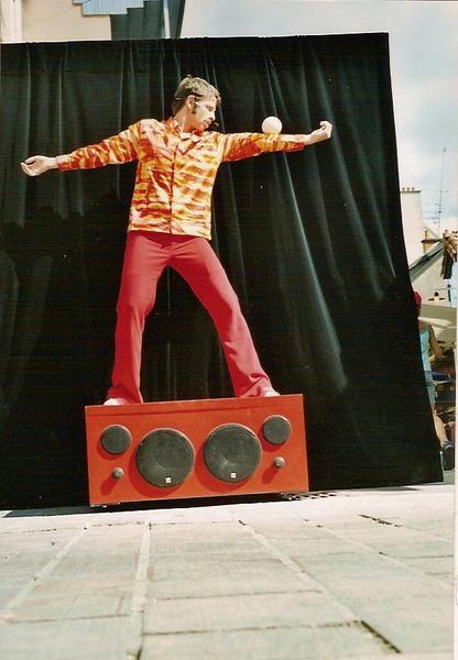 Julio sur le podium